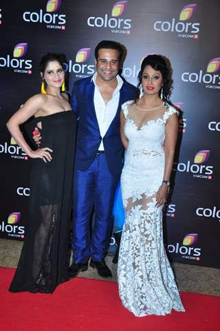 Krushna Abhishek, Kashmira Shah and Aarti Singh at Colors TV's Red Carpet Event