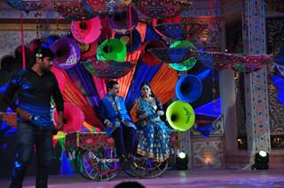 Dilip Johi and Disha Wakani at SAB TV Holi Celebrations