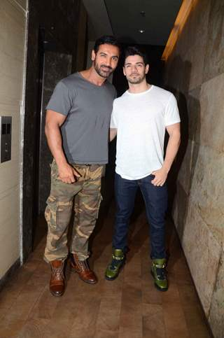 John Abraham and Sooraj Pancholi at Special Screening of Rocky Hansome