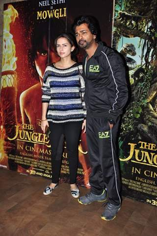 Nikhil Dwivedi with wife Gauri Pandit at Special Screening of 'The Jungle Book'