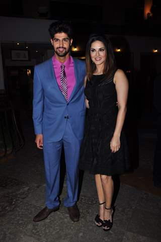 Tanuj Virwani and Sunny Leone at Trailer Launch of the film 'One Night Stand'