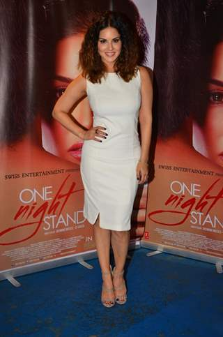 Sunny Leone at Promotions of the film 'One Night Stand'
