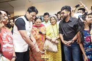 Sailesh Lodha & Sooraj Thapar at Inauguration of Art Exhibition