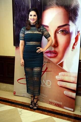 Sunny Leone Promote 'One Night Stand' in Delhi