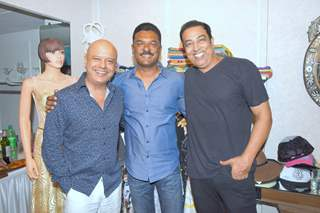 "Naved Jaffery with PRatap Sarnaik & Vindoo Dara Singh at Launch of a New Store ""Kama Couture'"