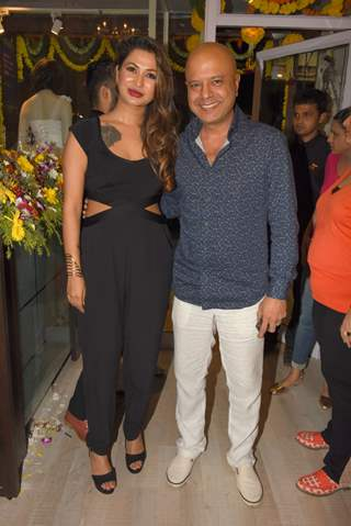 "Kajal Singh with Naved Jaffery at Exclusive Launch of a New Store ""Kama Couture"""