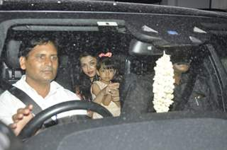 Aishwarya Rai Bachchan with daughter Aaradhya at Shilpa Shetty's Son Vivan's 4th B'day Celebration