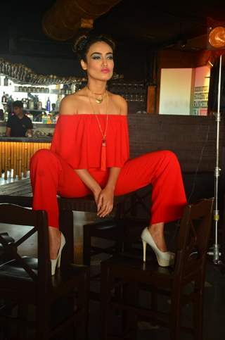 Surbhi Jyoti shoots for for a Travel based show