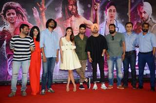 Ekta Kapoor, Alia Bhatt, Shahid Kapoor, Diljit Dosanjh and Anurag Kashyap at Press Meet of the film