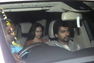 Nikhil Dwivedi with his wife at Special Screening of 'SULTAN'