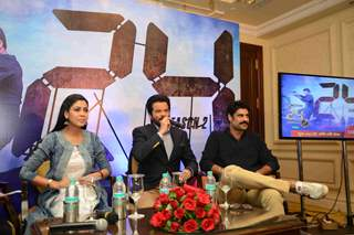 Sakshi Tanwar, Anil Kapoor and Sikander Kher during Promotions of '24 Season 2' Show