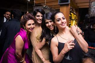 Ekta Kapoor, Pooja Gor and Anita Hassanandani at Divyanka - Vivek's 'Happily Ever After' Party