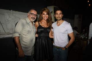 Ajay Chabbria, Caterina Murino and Rajeev Khandelwal at 'Fever' Bash!