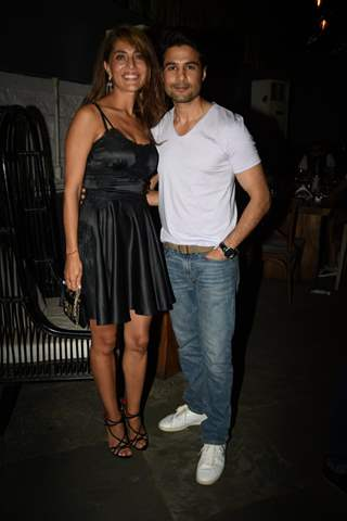 Bollywood actors Caterina Murino and Rajeev Khandelwal at 'Fever' Bash!