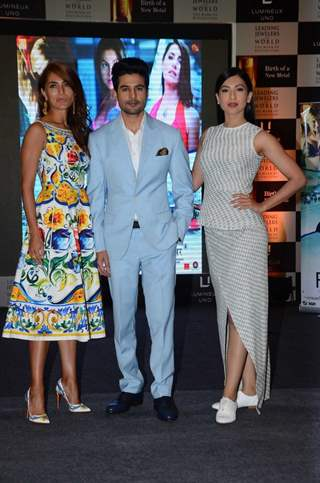 Gauhar Khan, Caterina Murino and Rajeev Khandelwal Promotes 'Fever' at a jewellery event