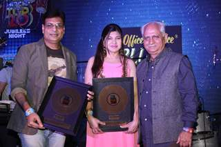 Ramesh Sippy and Alka Yagnik at Mirchi Jubilee Nights