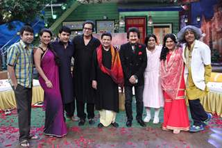 Singers Anup Jalota, Pankaj Udas, Talat Aziz on the sets of 'The Kapil Sharma Show'