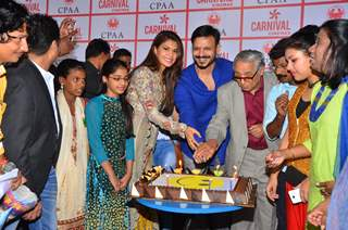 Vivek Oberoi and Jacqueline Fernandes at Celebrates Birthday with NGO Kids