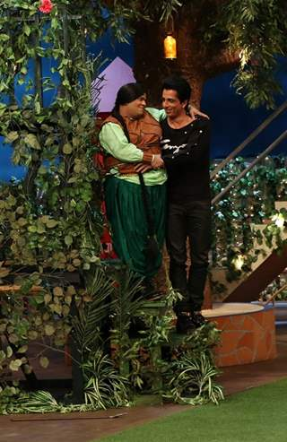 Sonu Sood and Kiku Sharda at Promotion of 'Tutak Tutak Tutiya' on sets of The Kapil Sharma Show
