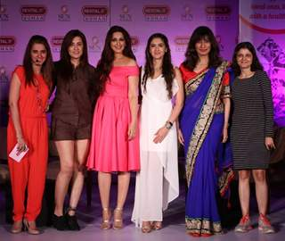Sonali Bendre with Shruti Seth at Revital H Woman's 'Healthy Conversations' campaign launch