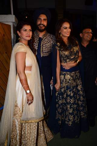 Surbhi Jyoti at  Kishwer Merchant and Suyyash Rai's Sangeet Ceremony