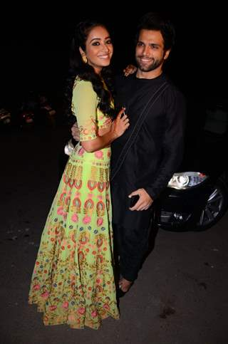 Asha Negi and Rithwik Dhanjani at Kishwer Merchant and Suyyash Rai's Sangeet Ceremony