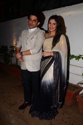 Raaj Singh Arora and Pooja Gor at Kishwer Merchant and Suyyash Rai's Sangeet Ceremony