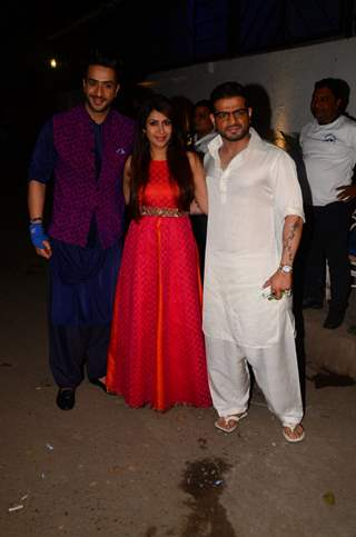 Karan Patel, Ankita Bhargava and Aly Goni at Kishwer Merchant and Suyyash Rai's Sangeet Ceremony
