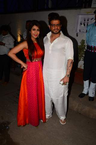 Karan Patel and Ankita Bhargava at Kishwer Merchant and Suyyash Rai's Sangeet Ceremony