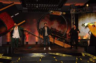 Ravi Dubey, Karan Wahi and Rithvik Dhanjani at the launch of Khatron Ke Khiladi: Pain