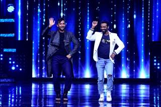Terence Lewish and Remo D'souza on the sets of Nach Baliye 8