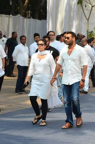 Kajol and Ajay while leaving at the Venue