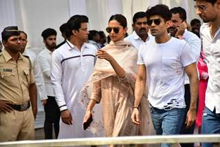 Deepika Padukone while leaving the Venue