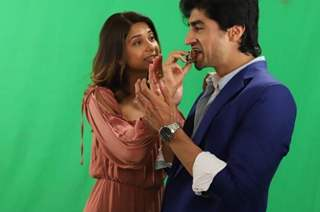 Jennifer Winget and Harshad Chopda