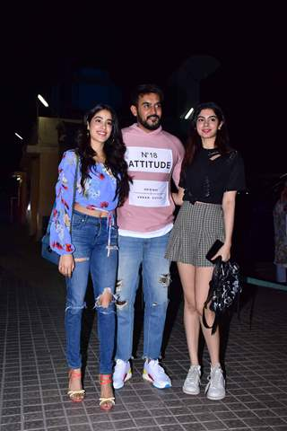Janhvi Kapoor and Khushi Kapoor at the screening of film 'Kedarnath'