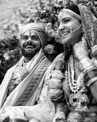 Virat Kohli and Anushka Sharma wedding Picture