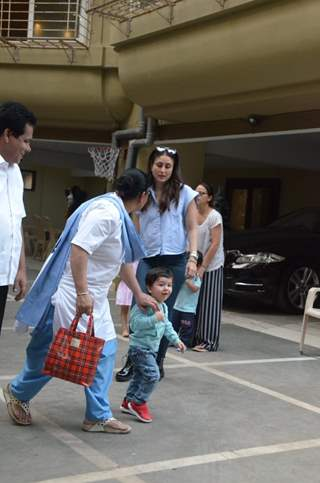 Kareena and Taimur snapped at play school in Bandra