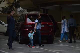 Kareena Kapoor and Taimur snapped at play school in Bandra