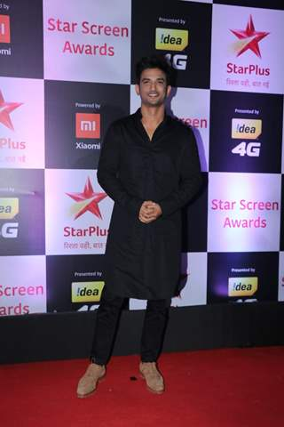 Sushant Singh Rajput at Star Screen Awards 2018
