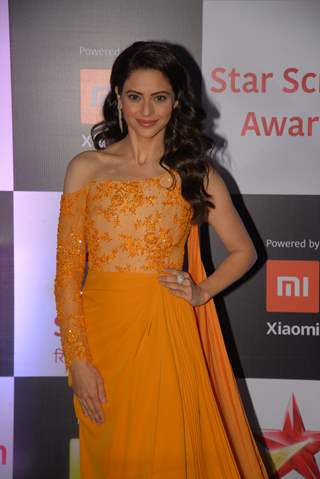 Aamna Shariff at Star Screen Awards 2018