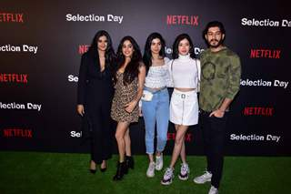 Kapoor siblings snapped at  Netflix's screening of Selection Day