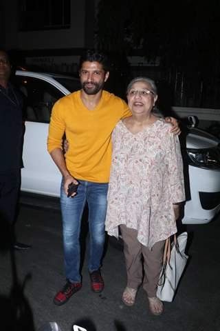 Farhan Akhtar spotted around the town