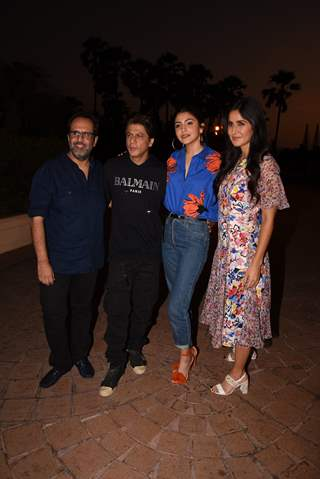 Shah Rukh Khan, Anushka Sharma, Katrina Kaif and Aanand L Rai spotted during Zero's Promotions