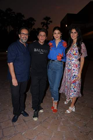 Aanand L Rai, Shah Rukh Khan, Anushka Sharma and Katrina Kaif spotted during Zero's Promotions