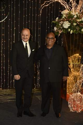 Anupam Kher and Satish Kaushik at Priyanka Chopra and Nick Jonas Wedding Reception, Mumbai
