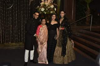Ranveer and Deepika with Asha Bhosle at Priyanka Chopra and Nick Jonas Wedding Reception, Mumbai