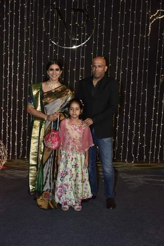 Sonali Kulkarni at Priyanka Chopra and Nick Jonas Wedding Reception, Mumbai