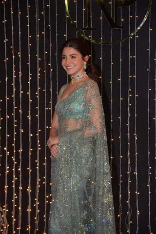 Anushka Sharma at Priyanka Chopra and Nick Jonas Wedding Reception, Mumbai