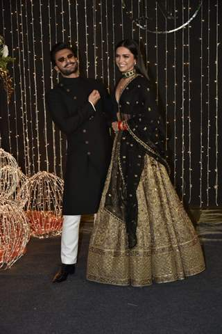 Ranveer Singh and Deepika Padukone at Priyanka Chopra and Nick Jonas Wedding Reception, Mumbai