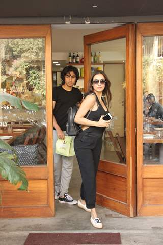 Malaika Arora with Son Arhaan Khan spotted around the town